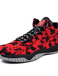 Синий Красный СерыйДля прогулок Повседневный Для занятий спортом-Ткань-На плоской подошве-Удобная обувь-Спортивная обувь