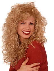 Golden Long Curly Synthetic Wig