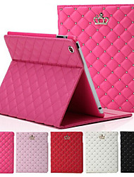 Original High Quality Crown Design Leather Flip Smart Case For Apple iPad 4/3/2 Cover Back Case Housing