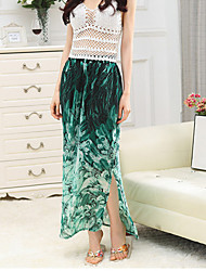 Women's New Fashion Malachite Green Skirts