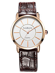Women's Genuine Leather Water Resistant Wrist Watches