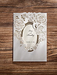 Personalized Tri-Fold Wedding Invitations Invitation Cards-50 Piece/Set Modern Style / Floral Style Art Paper Flowers