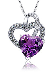 Necklace Pendants Jewelry Wedding / Party / Daily / Casual Sterling Silver / Crystal Silver 1pc Gift