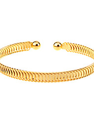 European Style  Brief Zigzag Gold Plating Cuff Bracelet Christmas Gifts