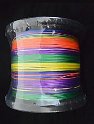 1000m anmnka marque coloré 8stand super fort multifilament pe ligne de pêche tressée japon 8 ~ £ 80