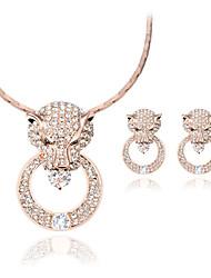 Schmuck 1 Paar Ohrringe Halsketten Ringe Hochzeit Party Aleación 1 Set Damen Goldfarben Hochzeitsgeschenke
