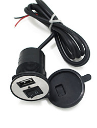 12V-24V Electric Motor car Phone Charger USB Car Charger With Switch 1.5A