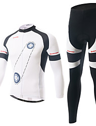Cycling Jersey with Tights Men's Long Sleeve BikeBreathable / Ultraviolet Resistant / Moisture Permeability / Compression / 3D Pad / Back