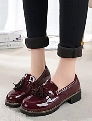 Women's Shoes Preppy Style Tassels Dunk Low Chunky Heel Comfort / Round Toe / Closed Toe Oxfords Outdoor / Casual