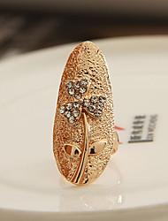 European Style Crystals  Clover  Fingernail Ring