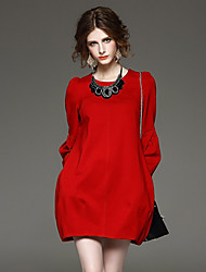 Women's Plus Size Lantern Sleeve Dress
