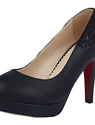 Women's Shoes Stiletto Heel Heels / Platform Heels Dress / Casual Black / Beige