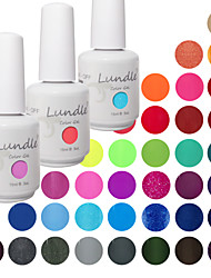 Choose 3 Pieces Lundle Soak Off UV Nail Gelpolish 141 Color Gel Base Top Coat Gel LED Manicure Gel