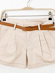 Damen Hose - Leger Kurze Hose Baumwolle Unelastisch