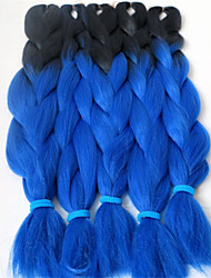 24inch 100g Black&dark blue Ombre Two Tone Colored Xpression Snythetic Long Hair Jumbo Twist Braid  Hair