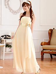 Ankle-length Chiffon Bridesmaid Dress - Grape / Sage / Champagne A-line Spaghetti Straps