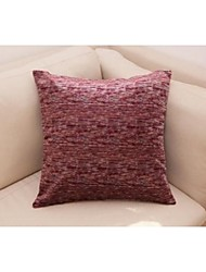 Mock Chenille Yarn Decorative Pillow and Cushion Cover Bed 18''x18'', Set of 2, Wine Red