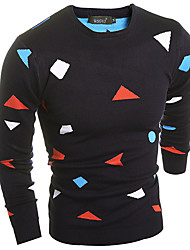 Men's Print Pullover , Others Long Sleeve
