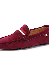 Men's Shoes Casual Suede Loafers Black / Blue / Brown / Red