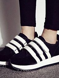 Women's Shoes Color Blocking Magic Tape Increased Within Low Heel Comfort Fashion Sneakers Outdoor / Athletic