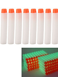 10 pcs 7.2cm Glow in the Dark White Foam Darts for Nerf N-strike Elite Series