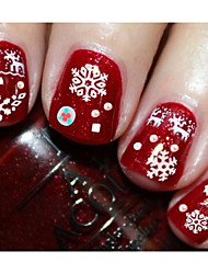 11pcs Christmas Snowflake Nail Stickers