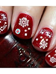 11pcs Christmas Snowflake Nail Stickers