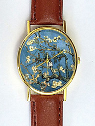 Van Gogh Watch Almond Blossoms Unisex Floral Watch Women's Watch Analog Impressionist Gift Idea Cool Watches Unique Watches Strap Watch