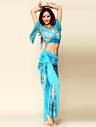 Belly Dance Outfits Women's Performance Chinlon / Spandex Draped 2 Pieces Pants / Top 96