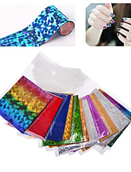 25pcs nail foil ( send by random different colors) - Autocollants 3D pour ongles - Doigt / Orteil - en Abstrait - 6cmX21cm each piece