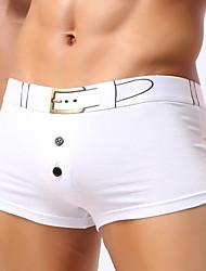 Para Hombre Sexy Deportes Un Color Boxer Panti Modelador,Algodón