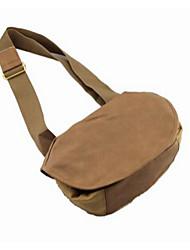 Men Canvas Messenger Shoulder Bag - Yellow / Gray / Black