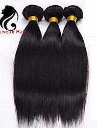 1bundles cabelo humano cabelo reto 8-26inch cabelo indiano virgem tece cor natural