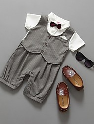 Negro / Plata Algodón Vestido de Padrino - 1 Piezas Incluye