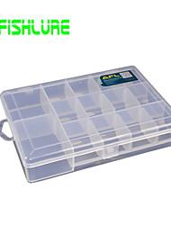 Afishlure Caixas de Pesca Caixa de Isco Impermeável 1 Bandeja 18.5*13*3.5 Plástico Duro