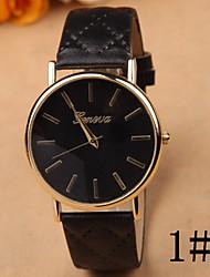 Simple Pu Leather Retro Latest GENEVA / Geneva Women's Watches Cool Watches Unique Watches