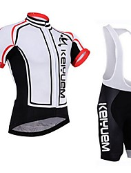KEIYUEM Bike/Cycling Jersey + Shorts / Padded Shorts / Jersey + Bib Shorts / Clothing Sets/Suits Women's / Men's / Unisex Short Sleeve