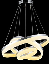 Round LED Pendant Lights Modern Acrylic Lamps Lighting Luxurious Three Rings Ceiling Lights Fixtures 406080