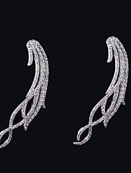 Pendentif d'oreille Boucle Laiton Zircon Femme