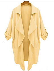 Women's Casual/Work Shirt Collar Long Sleeve Coats & Jackets (Acrylic)