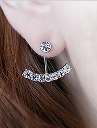Earrings Set Pearl Rhinestone Alloy Classic Silver Golden Jewelry Daily Casual 1 pair