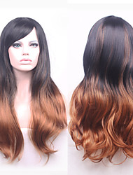 Cheap Wigs Two-Tone Fashion Wigs Wavy Wig Synthetic,Wholesale Ombre Wigs  the Best Synthetic Wig