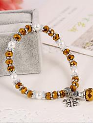 Obsidiaan Dames Persona Kralen Collectie Armbanden Opaal / Kristal / Bergkristal