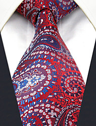 Men's Tie Fuchsia Paisley  Fashion 100% Silk  Business