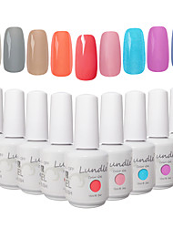 Choose 9 Pieces Lundle Soak Off UV Nail Gelpolish 141 Color Gel Base Top Coat Gel LED Manicure Gel