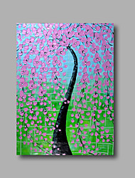 """Ready to hang Stretched Hand-Painted Oil Painting 36""""x24"""" on Canvas Wall Art Abstract Heavy Oils Purple Blossom"""