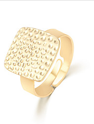 Lureme®  European Style Fashion  Individuality Gold  Square Alloy Cuff Rings