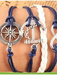 Bracelet Chaînes & Bracelets / Bracelets Wrap / Bracelets Vintage / Bracelets en cuir Alliage / Cuir Ancre Soirée / Quotidien Bijoux