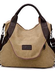 Women Canvas Saddle Shoulder Bag / Tote / Satchel / Storage Bag / Travel Bag - Pink / Blue / Burgundy
