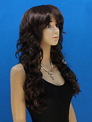 Europe And The United States New  In The Black Long Inclined Bang Wig